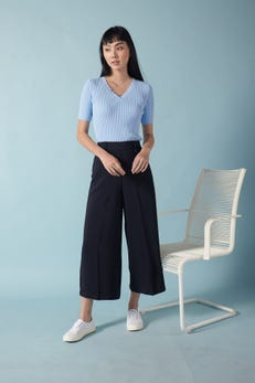 Smooth Poly Wide Leg Culottes