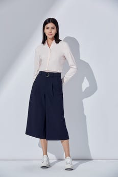 Rayon Belted Culottes