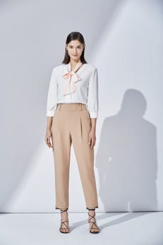 Ankle Tapered Cuffed Pants