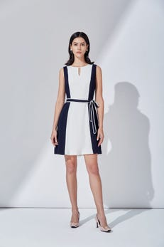 Colourblock Fit and Flare Dress