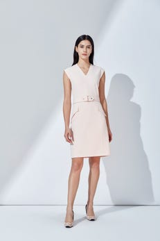 Crepe Knit Fitted Dress