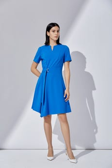 Asymmetrical Fit and Flare Dress