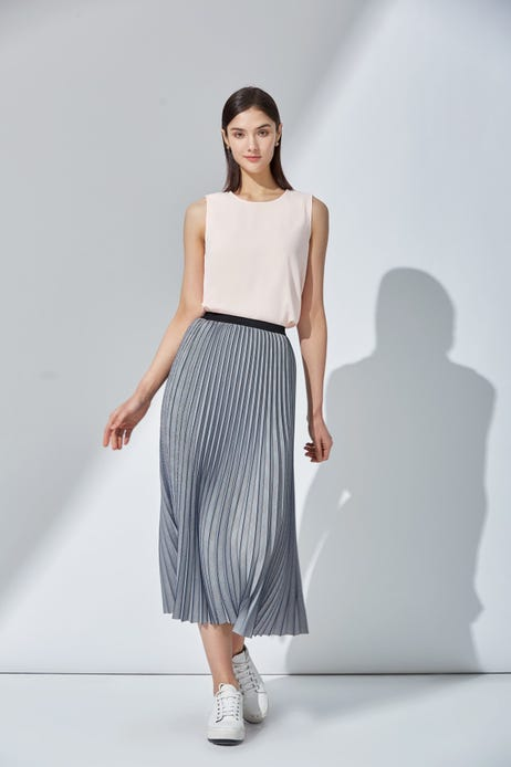Prince of Wales Check Pleated Skirt