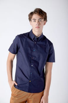 Coloured Buttons Oxford Shirt