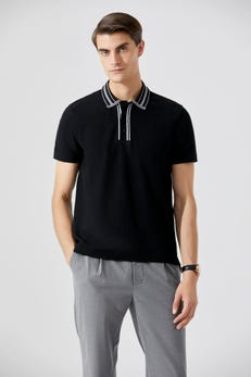 Detailed Placket Polo