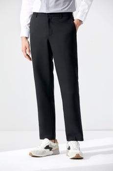Smart Fit Regular Front Pants With Elastic Waistband