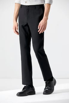 Smart Fit Anti Static Flat Front Pants with Elastic Waistband
