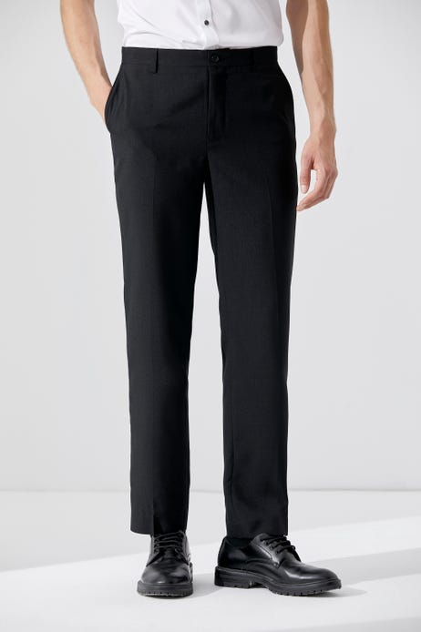 Ultra Slim Fit Polyester Textured Flat Front Pants