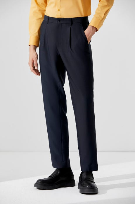Slim Fit Easy Care + Anti Static Pleated Pants