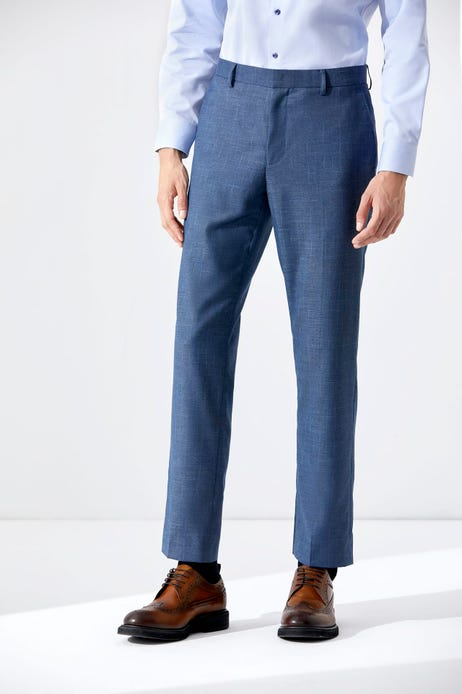 Smart Fit Flat Front Checked Pants