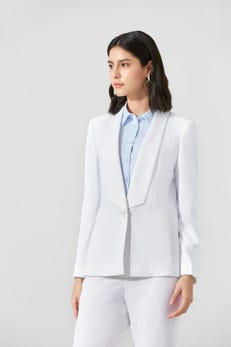 Dry Touch Poly Twill Relax Fit Blazer