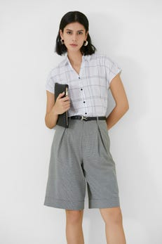 Linear Check Extended Sleeve Shirt