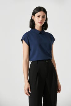 Extended Sleeve Collared Blouse
