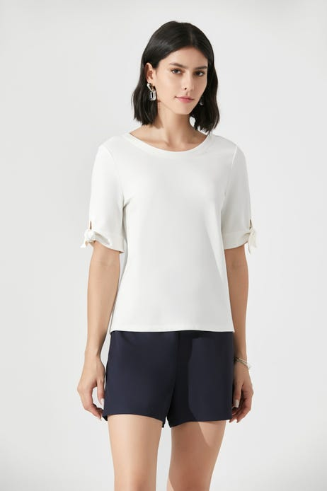 Ponte Tee With Knot Detail