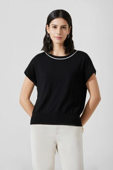 Cotton Round Neck Sweater with Extended Sleeve