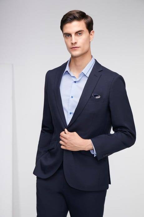 Smart Fit Polyester Twill Suit Blazer