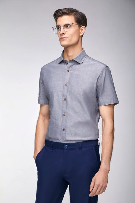 Smart Fit Tipping Placket Oxford Shirt