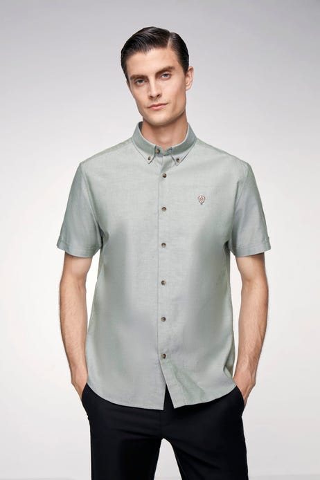 Smart Fit Hot Air Balloon Embroidery Logo Oxford Shirt