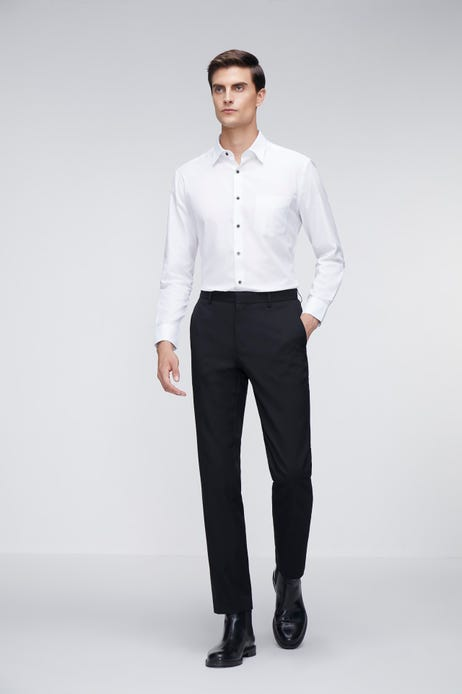 Smart Fit Polyester Twill Suit Pants