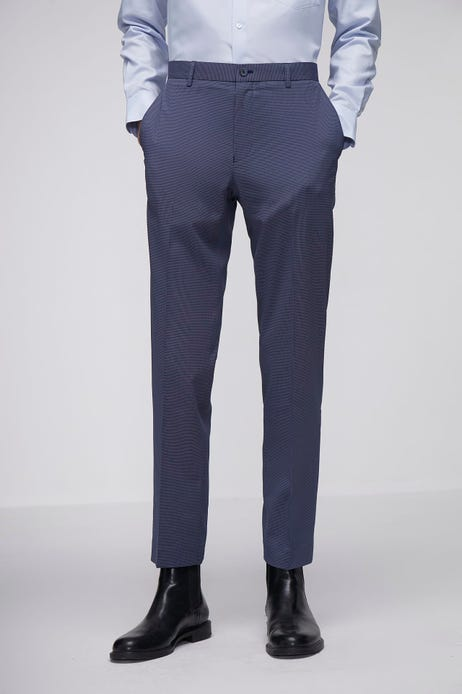 Smart Fit Polyester Spandex Texture Pants