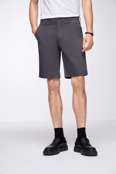 Smart Fit Flat Front Shorts With Elastic Waistband