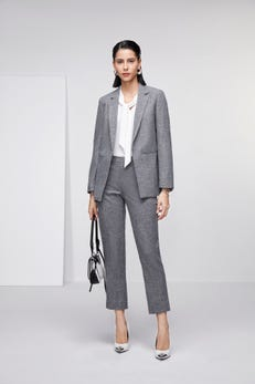 Anti-Bacterial Crosshatch Relaxed Blazer with Side Vents