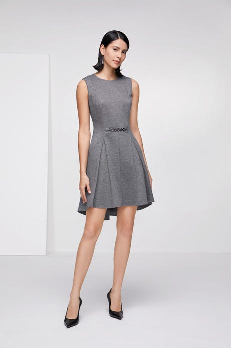 Ponte Dress with Chain Detail