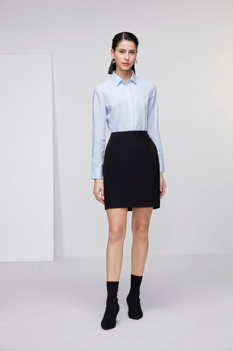H-Shaped Suit Skirt