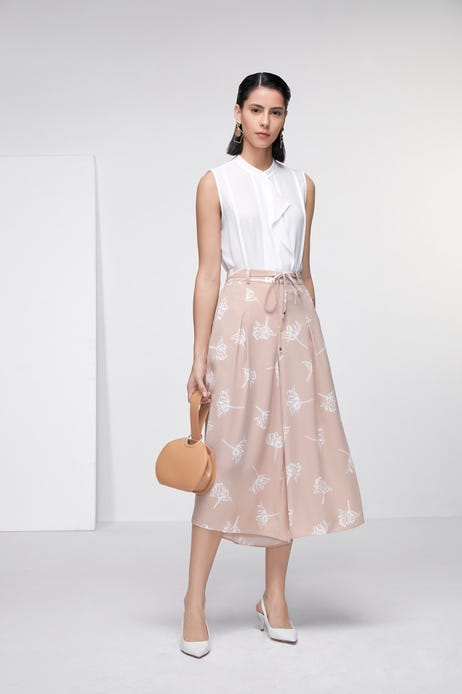 Floral Print Flared Culottes