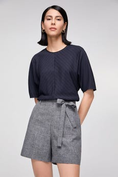 Anti-Bacterial Crosshatch Shorts with Belt