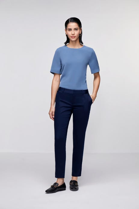 Ankle Skinny Stretch Sateen Pants