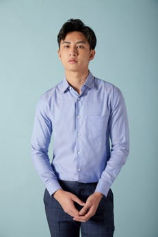Smart Fit Solid Colour Tencel Shirt