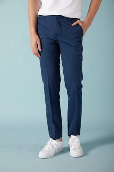 Slim Fit Polyester Checked Pants