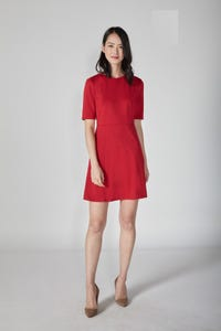 Half Sleeve Fit and Flare Dress